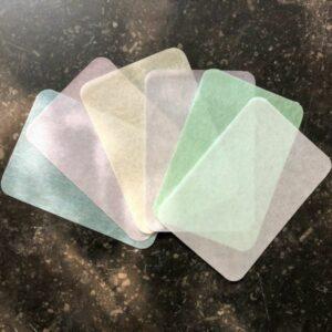 feuilles de savon multi couleurs
