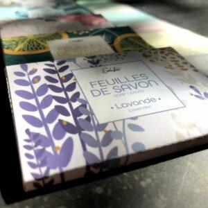 feuilles de savon disponibles dans diverses senteurs